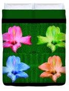 Flowers In Ireland Duvet Cover