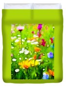 Flowers In The Garden Duvet Cover