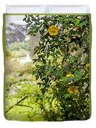 Flowers In The Park Duvet Cover
