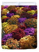 Flowers Near The Grand Palais Off Of Champ Elysees In Paris France   Duvet Cover