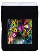 Flowers Night Party Duvet Cover