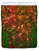 Flowers Of Fire Duvet Cover