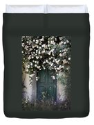 Flowers On The Door Duvet Cover