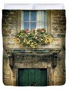 Flowers Over Doorway Duvet Cover