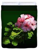 Flowers - Pale Pink Geranium Duvet Cover