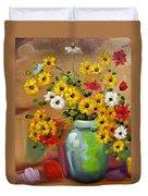 Flowers - Still Life Duvet Cover
