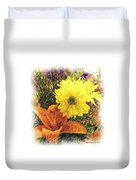 Flowers With Love Duvet Cover