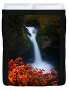 Flowing Into Fall Duvet Cover