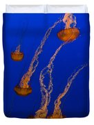 Flowing Pacific Sea Nettles 3 Duvet Cover