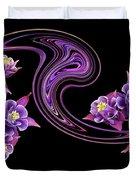 Flowing Purple Velvet 2 Duvet Cover