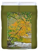 Flowing River Leaning Tree Duvet Cover