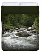 Flowing Stream In Vermont Duvet Cover