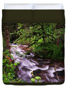 Flowing Through The Forest Duvet Cover