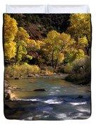 Flowing Through Zion National Park Duvet Cover