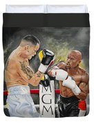 Floyd Mayweather Duvet Cover by Don Medina
