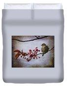 Fluffy Sparrow  Duvet Cover