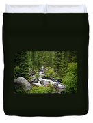 Fluid Motion - Crazy Woman Canyon - Crazy Woman Creek - Johnson County - Wyoming Duvet Cover