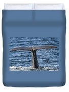 Flukes Of A Sperm Whale 2 Duvet Cover by Heiko Koehrer-Wagner