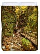 Flume Gorge At Franconia Notch Duvet Cover