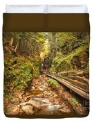 Flume Gorge Landscape Duvet Cover
