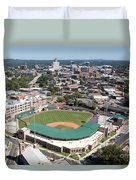Fluor Field At The West End Greenville Duvet Cover