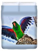 Fly And Shine Duvet Cover