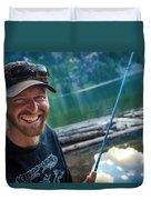 Fly Fishing Emerald Lake, Weminuche Duvet Cover