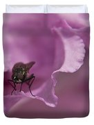 Fly On A Rhododendron Duvet Cover