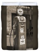 Flying A Gasoline - National Gas Pump 2 Duvet Cover by Mike McGlothlen