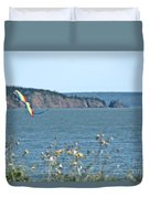 Flying A Kite On The East Coast Duvet Cover