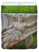 Flying Angel In Ephesus-turkey Duvet Cover