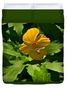 Flying Bee And Wood Poppy Duvet Cover