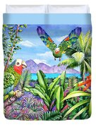 Flying Colours Duvet Cover by Carolyn Steele