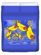 Jumping Fantasy Animals Duvet Cover