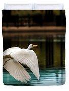 Flying Egret Duvet Cover