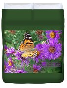 Flying Flower Duvet Cover