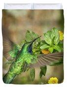 Flying Green Violetear Duvet Cover