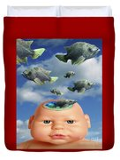 Flying Head Fish Duvet Cover