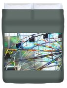 Flying Inside Ferris Wheel Duvet Cover