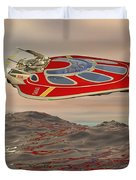 Flying Just Above The Waves Duvet Cover