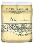 Flying Machine Patent Drawing From 1906 - Vintage Duvet Cover