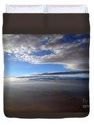 Flying Over Southern California Duvet Cover
