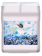 Flying Over Troubled Waters Duvet Cover