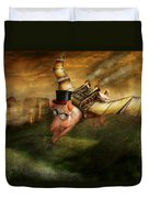 Flying Pig - Steampunk - The Flying Swine Duvet Cover