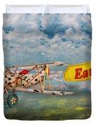 Flying Pigs - Plane - Eat Beef Duvet Cover