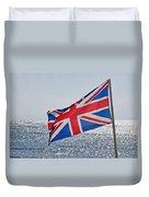 Flying The British Flag Duvet Cover