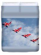 Flying The Union Jack Duvet Cover