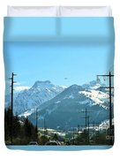 The Way To The Alps Duvet Cover