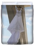 Flying Wedding Dress 2 Duvet Cover