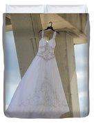Flying Wedding Dress 3 Duvet Cover